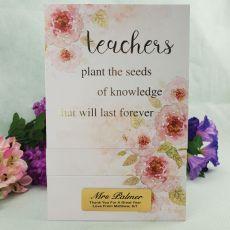 Teacher Garden of Love Trinket Box - Personalised