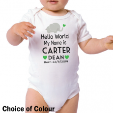 Welcome Baby Personalised Bodysuit