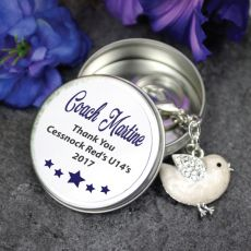 Personalised Coach Keyring Gift - Bird
