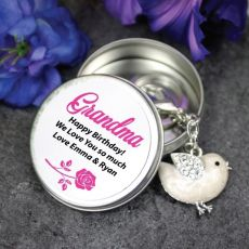 Personalised Grandma Keyring Gift - Bird