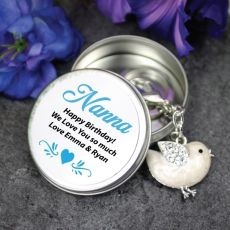 Personalised Nana Keyring Gift - Bird