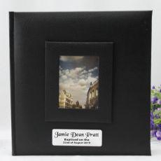 Personalised Baptism Photo Album 200 Black