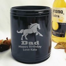 Dad Engraved Black Can Cooler Personalised Message