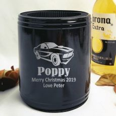 Pop Engraved Black Can Cooler Personalised Message