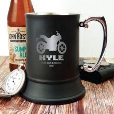 Personalised Engraved Stainless Steel Black Beer Stein (M)