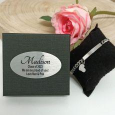 Graduation ID Heart Bracelet In Personalised Box