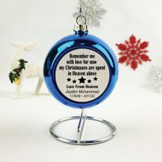 Memorial Christmas Bauble - Blue