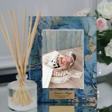 Baby Personalised Frame 5x7 Photo Glass Fortune Of Blue