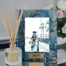 Graduation Personalised Frame 5x7 Photo Glass Fortune Of Blue