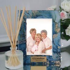 Grandma Personalised Frame 5x7 Photo Glass Fortune Of Blue