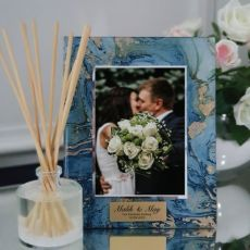 Wedding Personalised Frame 5x7 Photo Glass Fortune Of Blue