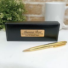 Mum Gloss Gold Twist Pen Personalised Box
