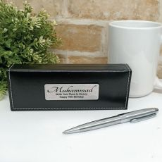 70th Birthday Silver S/S Twist Pen in Personalised Box