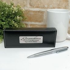 Grandma Silver S/S Twist Pen in Personalised Box