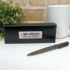 18th Birthday Gunmetal Twist Pen in Personalised Box