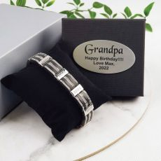 Grandpa Bracelet Stainless Steel & Sillicone - Personalized Box