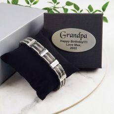 Grandpa Bracelet In Personalized Box - Striped