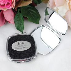 Bride to Be Glitter Compact Mirror