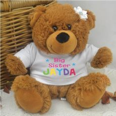 Big Sister Personalised Teddy Bear Brown Plush
