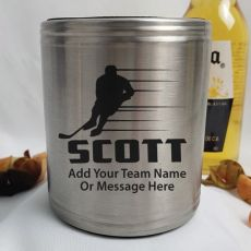 Hockey Coach Engraved Silver Stubby Can Cooler Personalised Message