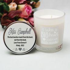 Fragrant Teacher Candle 45hrs - Big Heart