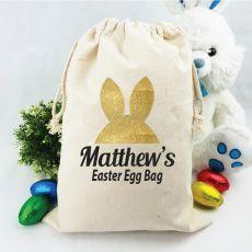 Personalised Easter Sack - Bunny Ears