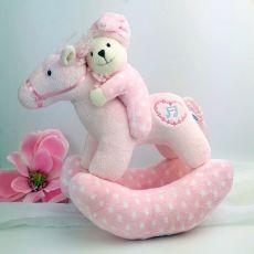 Musical Rocking Horse Plush Toy Pink