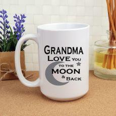 Grandma Personalised Coffee Mug 15oz  - Moon & Back