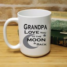 Grandpa Personalised Coffee Mug 15oz  - Moon & Back