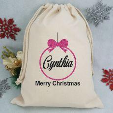 Personalised Christmas Santa Sack 40cm- Bauble