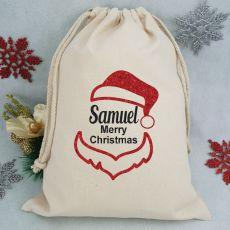 Personalised Christmas Santa Sack - Glitter Santa