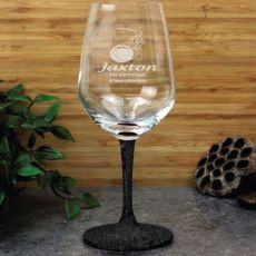 Cricket Coach  Engraved Personalised Wine Glass
