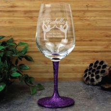 Gymnastic Coach  Engraved Personalised Wine Glass