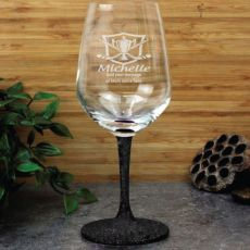 Hockey Coach  Engraved Personalised Wine Glass