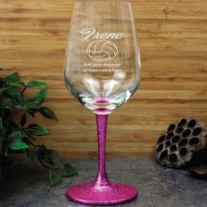 Netball Coach  Engraved Personalised Wine Glass