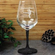 Soccer Coach Engraved Personalised Wine Glass