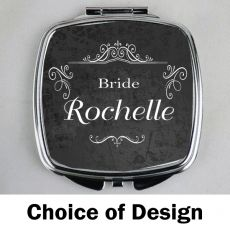 Bride Personalised Compact Mirror Assorted Designs