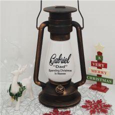Christmas in Heaven Memorial Lantern - Gold