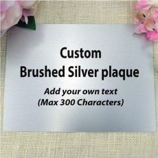 """Personalised Metal 5"""" x 7"""" Plaque - Any Text"""