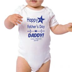 Personalised 1st Fathers Day Bodysuit -Star