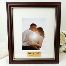 Engagement Classic Wood Photo Frame 5x7 Personalised Message