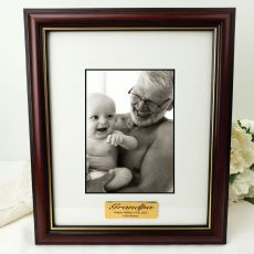 Grandpa Classic Wood Photo Frame 5x7 Personalised Message