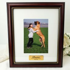 Pet Memorial Classic Wood Photo Frame 5x7 Personalised Message