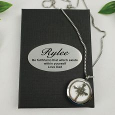 Personalised Aromatherapy Boxed Diffuser Necklace - Cross
