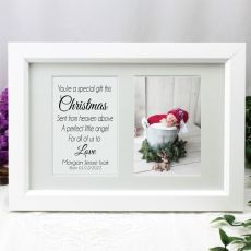 1st Christmas Photo Frame Typography Print 4x6 White