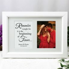 Engagement Photo Frame Typography Print 4x6 White