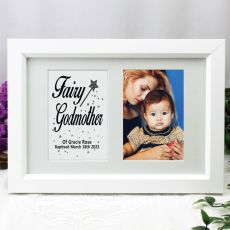 Godmother Photo Frame Typography Print 4x6 White