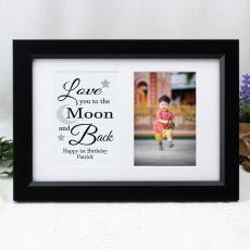 Love You Photo Frame Typography Print 4x6 Black