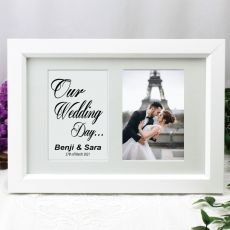 Wedding Photo Frame Typography Print 4x6 White
