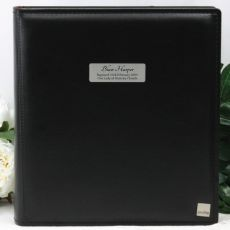 Personalised Drymount Baptism Photo Album - Black
